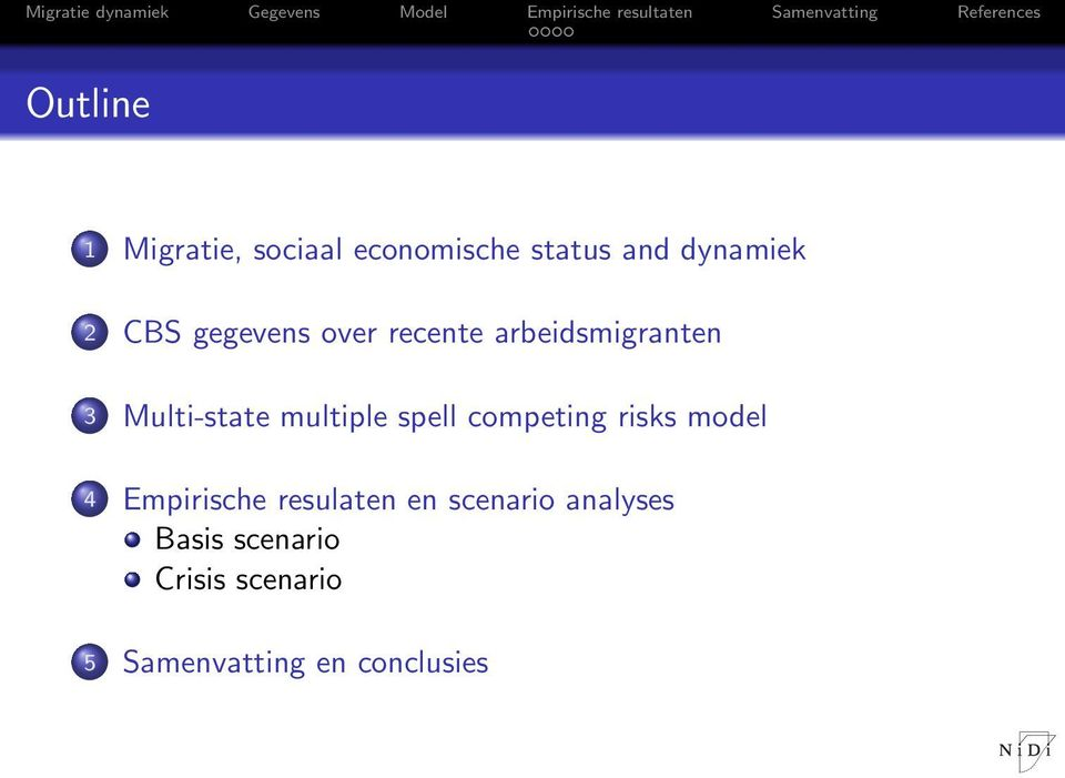 multiple spell competing risks model 4 Empirische resulaten en