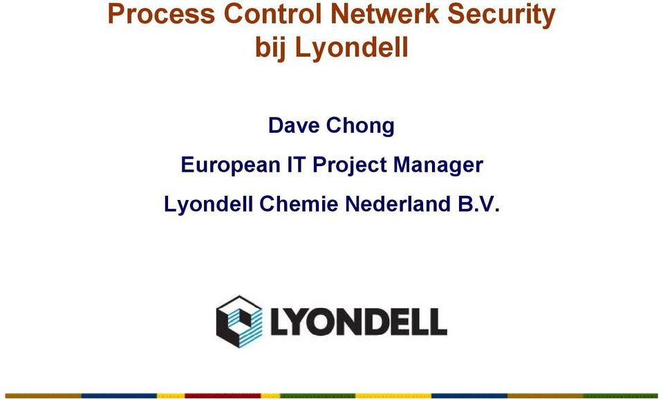 Chong European IT Project