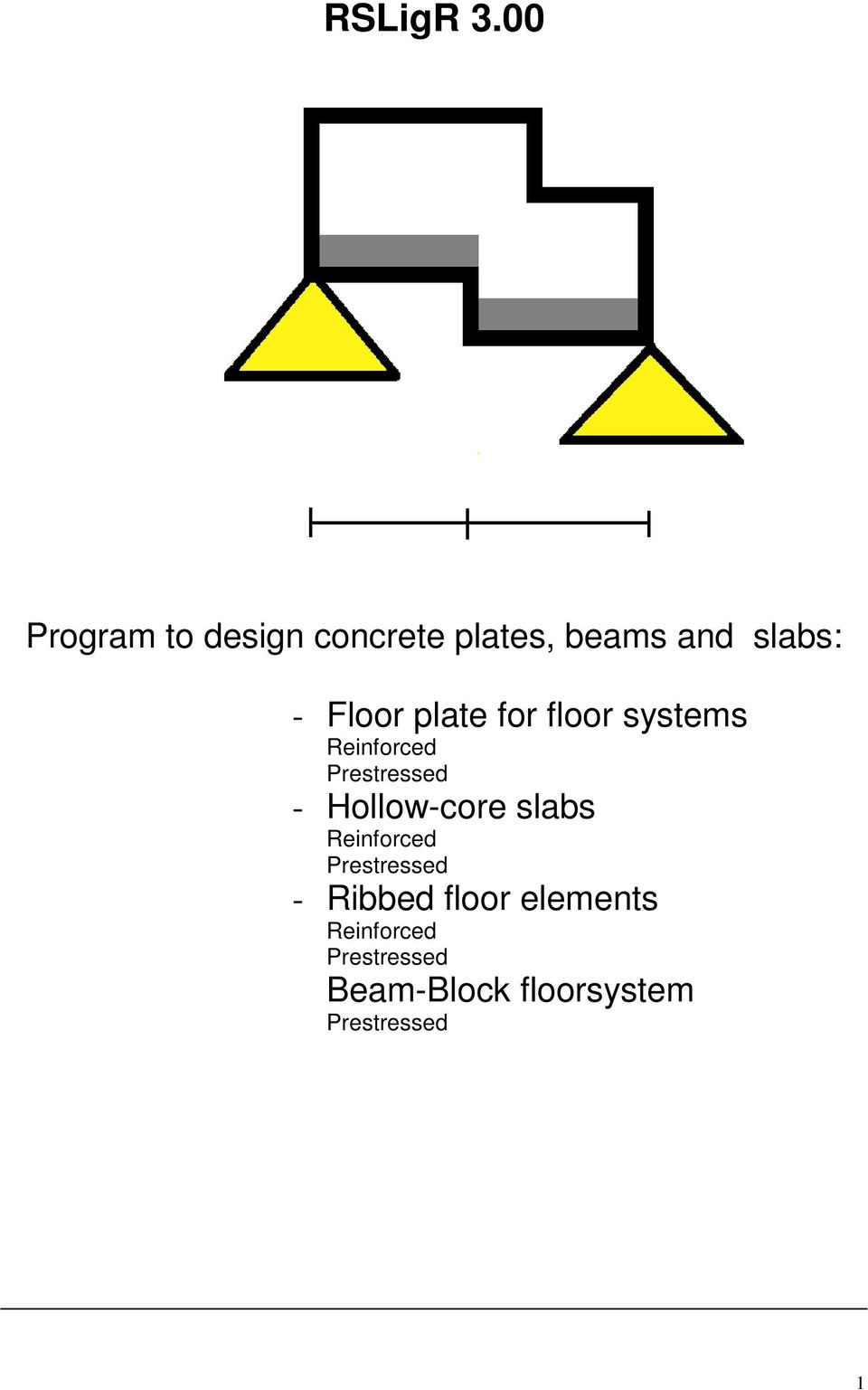 Floor plate for floor systems Reinforced Prestressed -