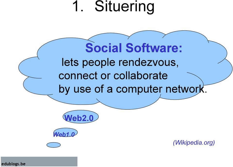 or collaborate by use of a
