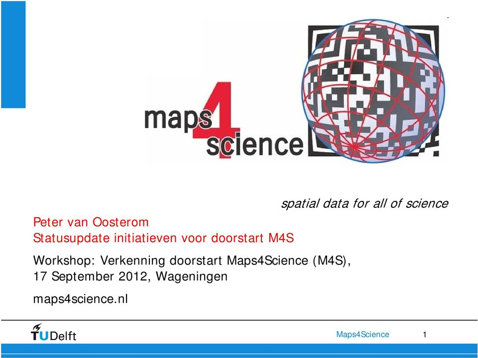 doorstart M4S Workshop: Verkenning doorstart