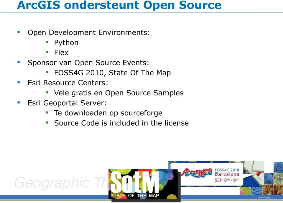 Esri Resource Centers: Vele gratis en Open Source Samples Esri