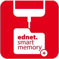 APP downloaden Zoeken ednet smart memory in de App Store en klik op Download Na het downloaden van de app zal de volgende melding worden weergegeven wanneer u het apparaat inschakelt.