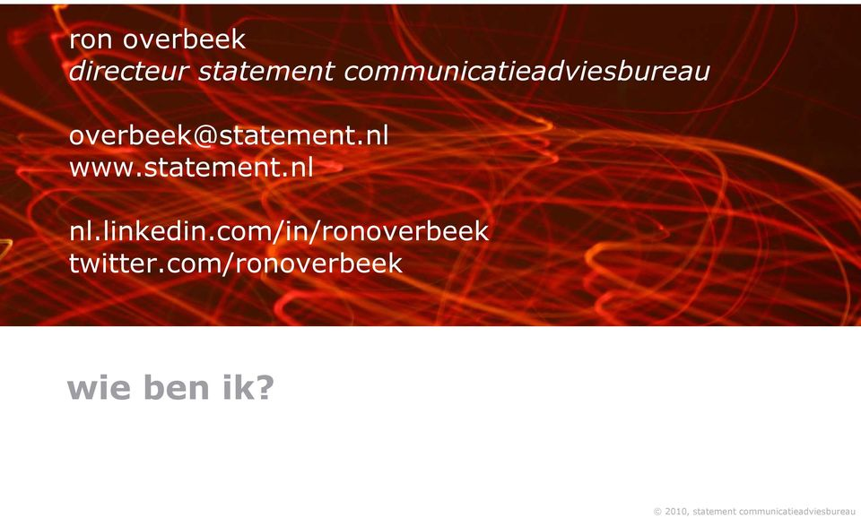 overbeek@statement.nl www.statement.nl nl.