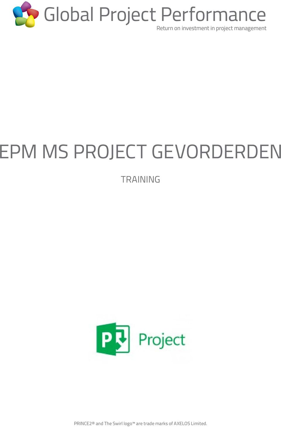 GEVORDERDEN TRAINING PRINCE2 and
