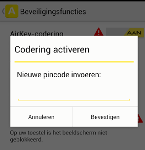 Installatieprocedure Download van de AirKey-app AirKey-app gewoon downloaden