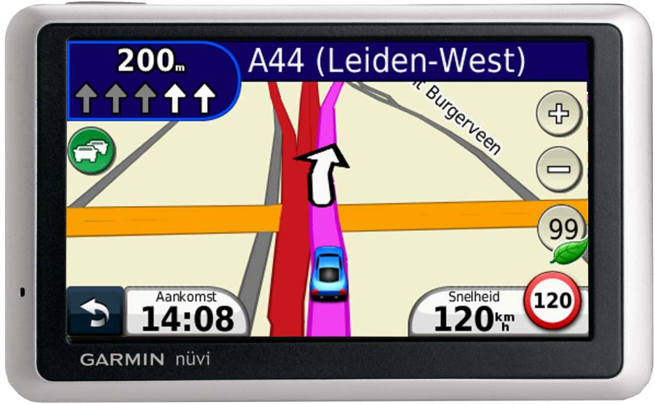 Uitgebreide navigatie op de Garmin nüvi 1340 Smart Traffic Garmin Smart Traffic Rijbaanassistent Text-to-speech en gesproken aanwijzingen EcoRoute voor milieuvriendelijk rijden Compatibel met