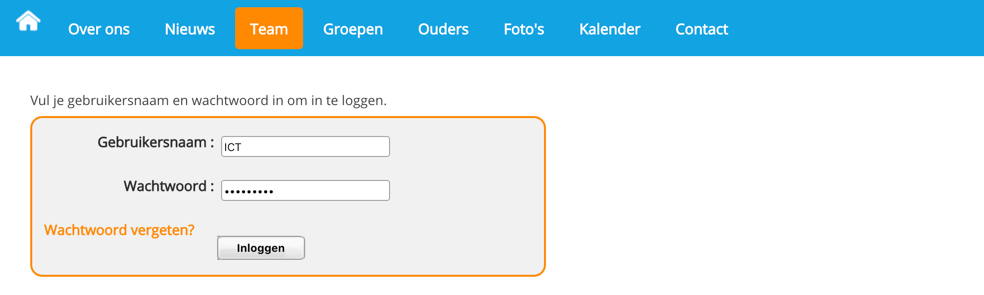 van de website te komen.