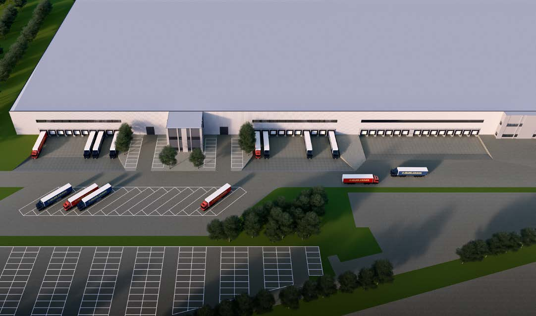 DITCH DITCH DITCH Unit 1 9,415 m² 10 Docks Car parking (16) Truck parking (15) Unit 2 10,114 m² Car parking (16) 10 Docks For lease Existing Unit 3 9,400 m² 14 Docks Car parking (98)