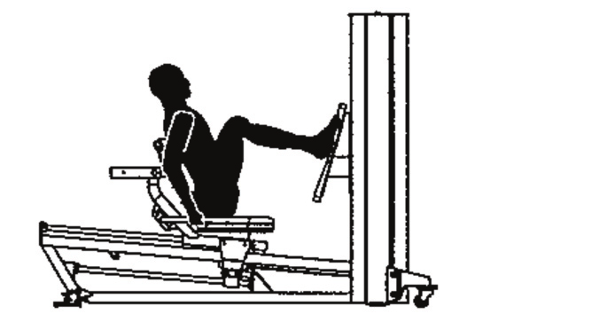 Instructies voor de instructeurs 2410 seated leg press M. quadriceps M. hamstrings Vereiste bewegingen: Extensie van de heup Extensie van de knie Mm.
