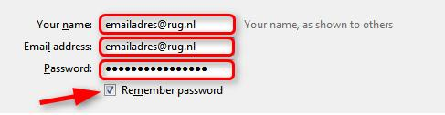 Vul in Your name: emailadres-faccount@rug.nl E-mailaddress: emailadres-faccount@rug.