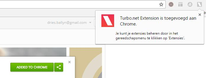 3. Klik op ADD TO CHROME of TOEV. AAN CHROME om de Turbo.net extensie toe te voegen.