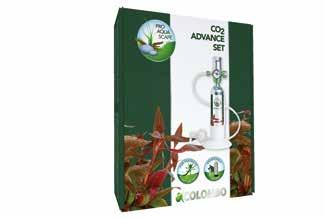 FOR FANTASTIC PLANT GROWTH Advance Set De Colombo advance set bestaat uit een drukcilinder met 95 gram, een drukregelaar, een 3-in-1 diffusor en alle aansluitingen.