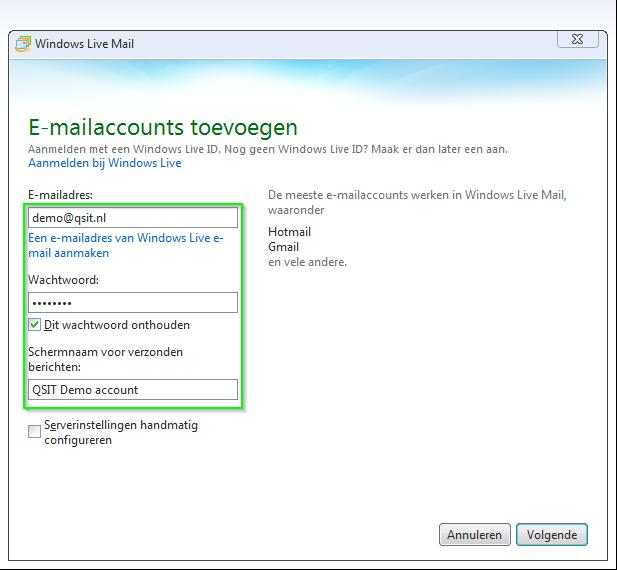 Windows Live Mail Vul