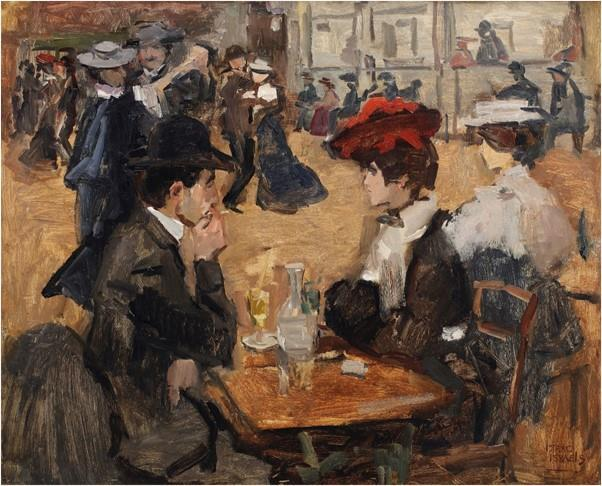 PERSBERICHT AMSTERDAM 14 APRIL 2017 ISAAC ISRAELS MOULIN DE LA GALETTE LEIDT DE VEILING VAN THE FORMER KAMERBEEK COLLECTION Isaac Israels (1865-1934), Moulin de la Galette, Parijs ( 300.000-500.