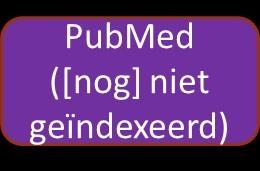 PubMed: inhoud Doorzoekbaar op MeSH-termen: o PubMed - indexed for MEDLINE MEDLINE Via PubMed.