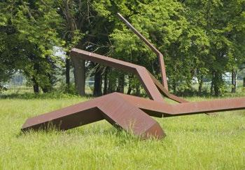 Name artist Title artwork Year of creation/relocation 1993 / 1998 Material Norman Dilworth Liggend teken Sign in Recline plasticised steel Location east side, near Atlas, building 104 3 Dit kunstwerk