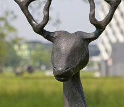 Name artist Title artwork Year of creation/relocation 1995 / 2010 Material Iris le Rütte Tweedelig hert (Actaeon) Deer Dichotomy bronze Location east side, near Atlas, building 104 4 Het kunstwerk is