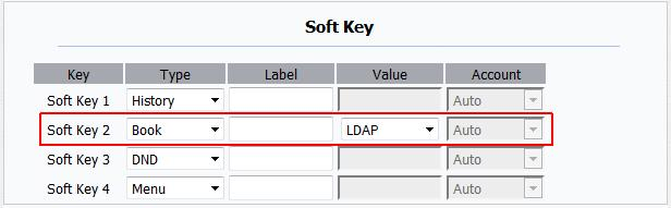 Configuration tiptel 32xx series with firmware 5.191 or higher: Login on the web interface, and goto PhoneBook->LDAP: Enter the values as mentiod above, or use your own one.