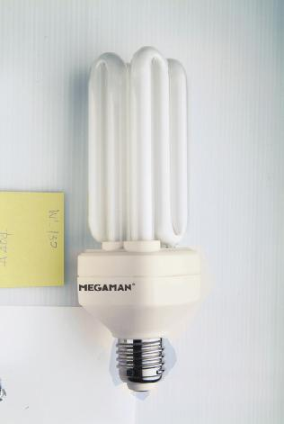 High Wattage GLS Bulbs Besides being compact in size, the new MEGAMAN LILIPUT series in WL tubes are capable of producing lighting results that are comparable to 100W, 125W and