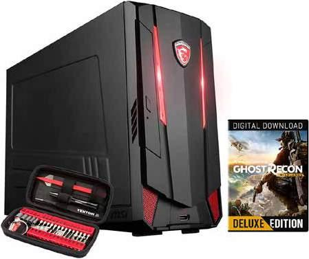Gaming desktops + Gratis Toolkit en de game Ghost Recon Wildlands 999 899 MSI