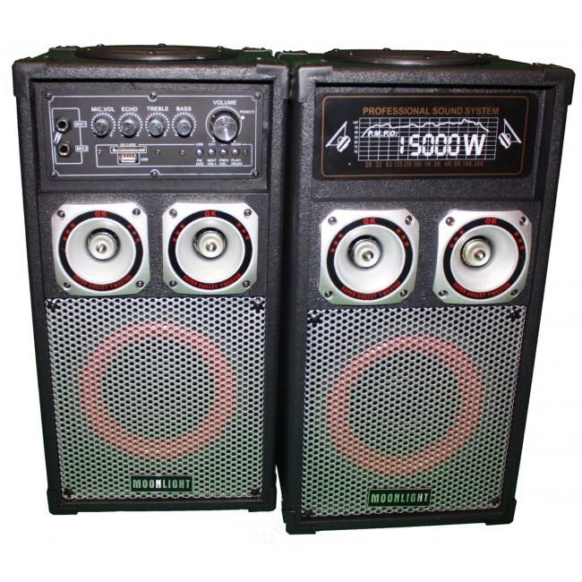 ACTIEVE SPEAKERS 300W Actieve Speakerset 2x 300W Speakers 1x Master Actief, 1x Slave Passief
