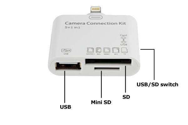 in 1 30 pin - 5 in 1 cardreader - Extra USB Poort - Leest: USB SD(HC)/MMC/MS/M2/TF - Importeer