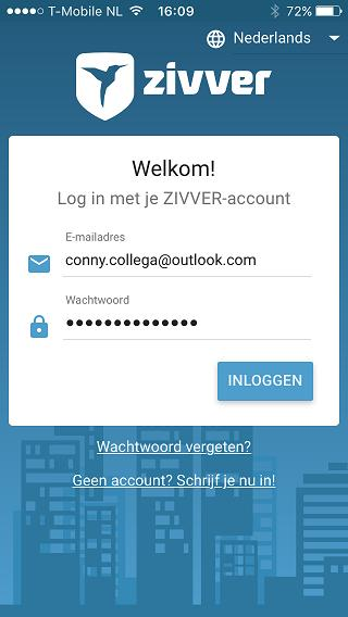 Download dan de ZIVVER-app uit de App Store of Play Store. Inloggen op een tablet of mobiele telefoon: 1. Open de ZIVVER-app of ga naar de website app.zivver.com in je webbrowser. 2.