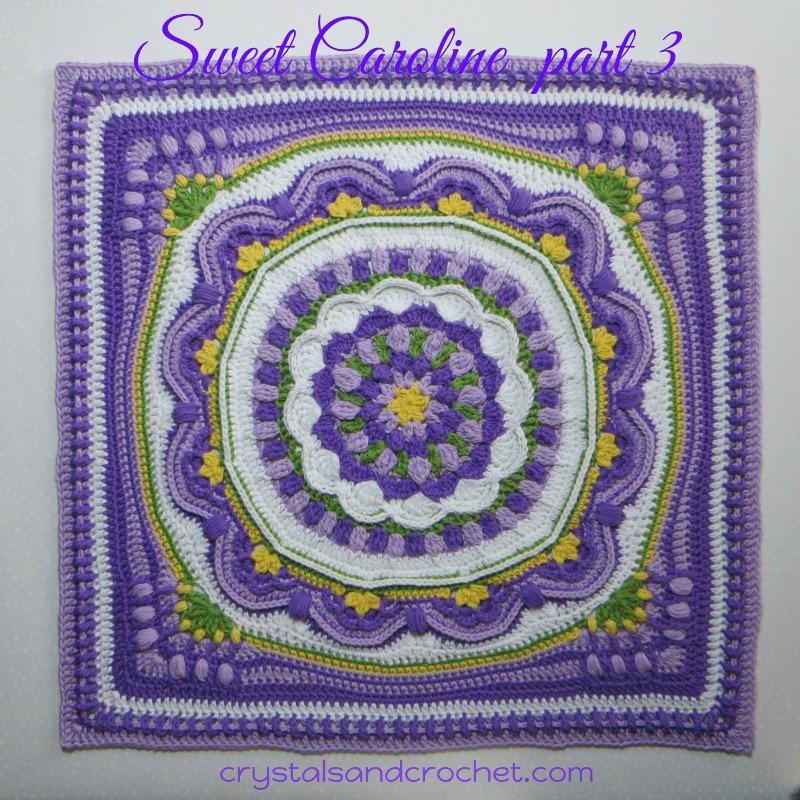 Sweet Caroline Copyright: Helen Shrimpton, 2017. All rights reserved. By: Helen at www.crystalsandcrochet.