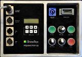 Installatie Emergency Stop Input Emergency Stop Link DMX In DMX Out Power Input Remote Control On / Off DMX / Man Drive Ready Reset Up / Down Slow / Fast 3 Aansluiten van kabels Noodstop