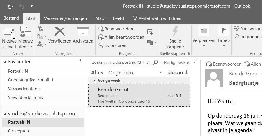 56 Cursusboek MOS Outlook 2016 en 2013 2.