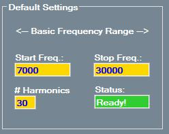 Basic Frequency Use Sweep Effective Basic Frequency for: Hierna worden de