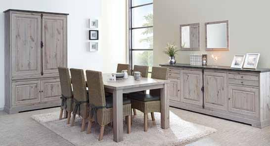Living York Decor kristal eik-licht bruin samenstelling : dressoir b.