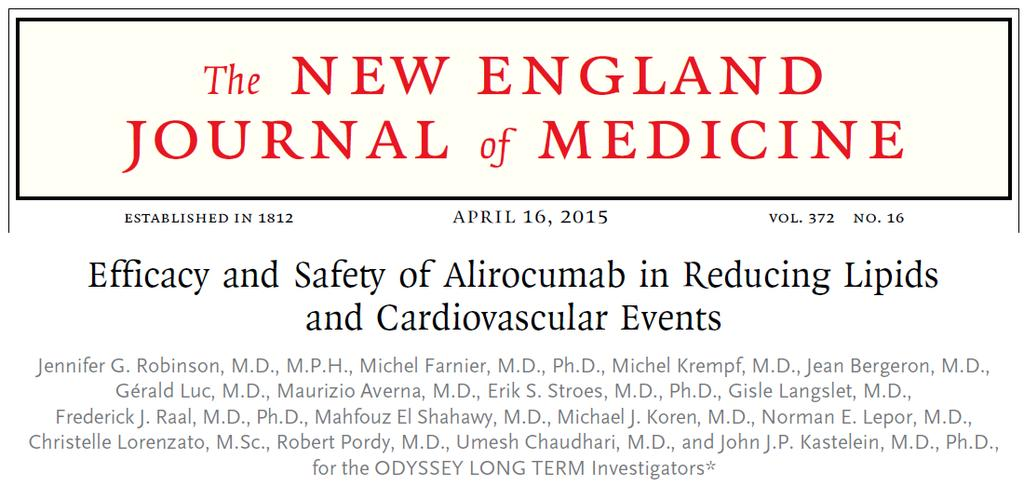 Efficacy and safety of alirocumab in reducing lipids and cardiovascular