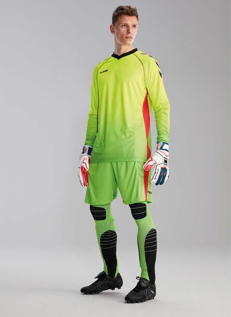 UNITY KEEPER SET SHIRT + SHORT High Impact keeper kous neon groen -