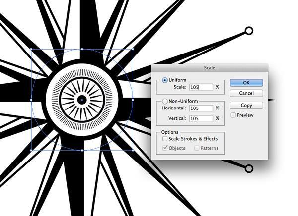 verloop in een pattern brush illustrator