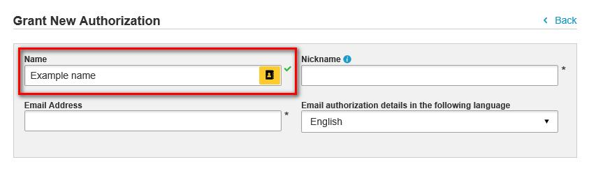 sent. 1) To grant a new authorization click on My Shipment Settings and then on Authorized Account Usage.