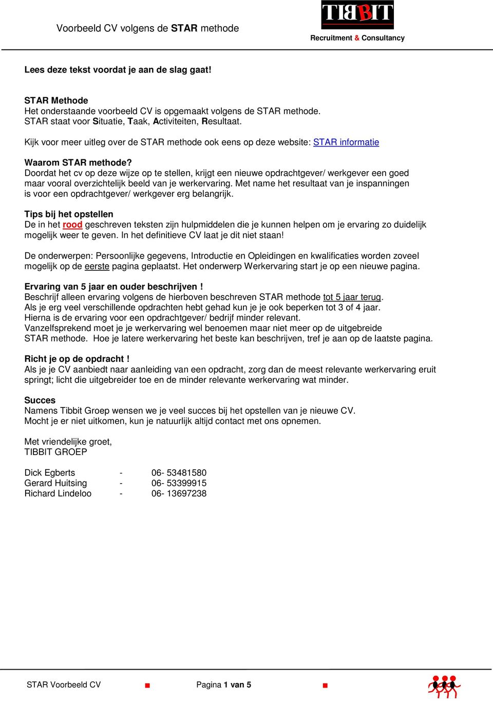 voorbeeld sollicitatiebrief salarisadministrateur Voorbeeld CV volgens de STAR methode Recruitment & Consultancy   PDF voorbeeld sollicitatiebrief salarisadministrateur