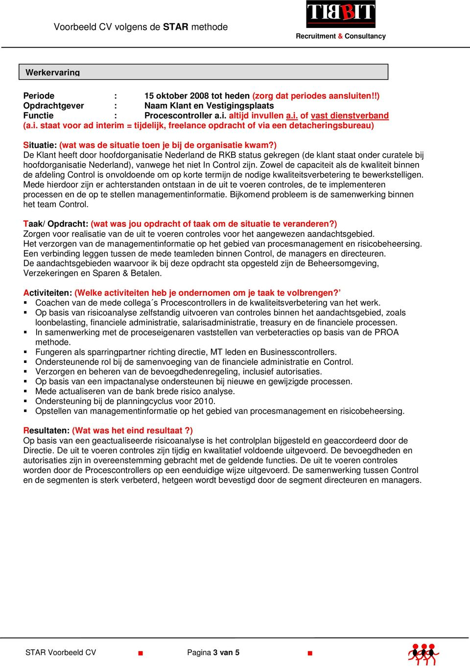 voorbeeld cv volgens de star methode recruitment  u0026 consultancy