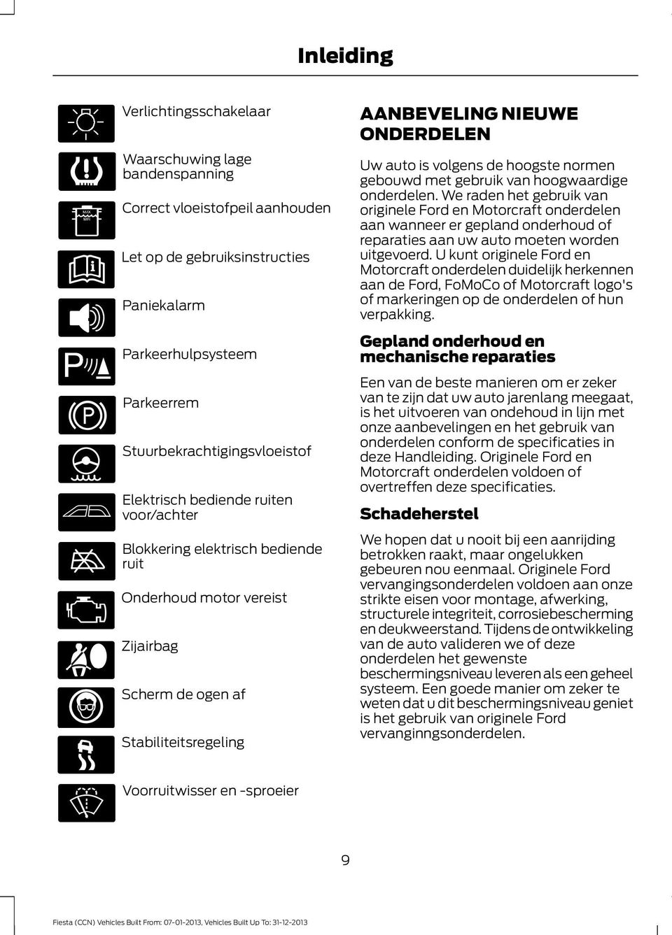 Ford Fiesta Instructieboekje Pdf