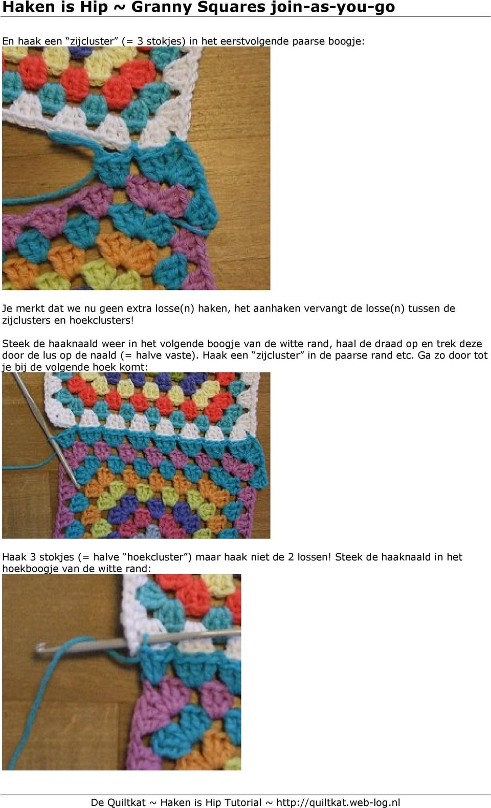 Haken Is Hip Granny Squares Join As You Go Pdf