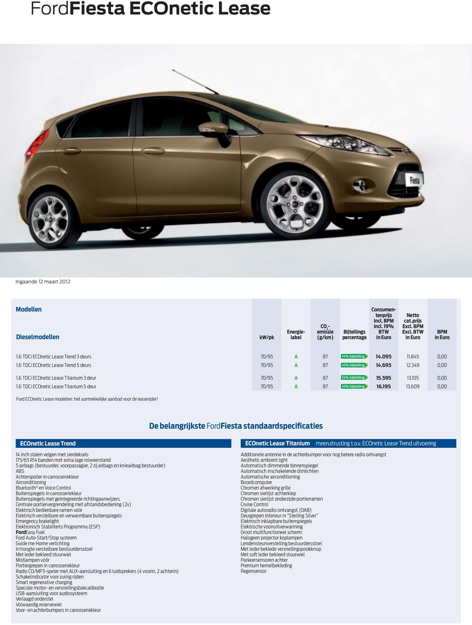 Ford Econetic Lease Prijslijst Pdf Free Download