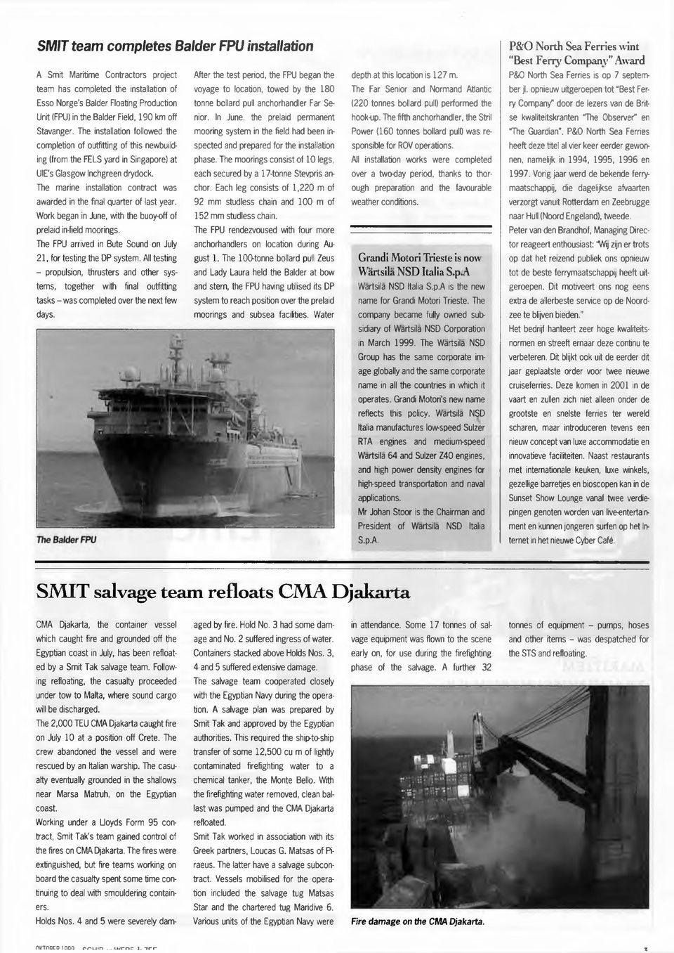 Hook up fase offshore
