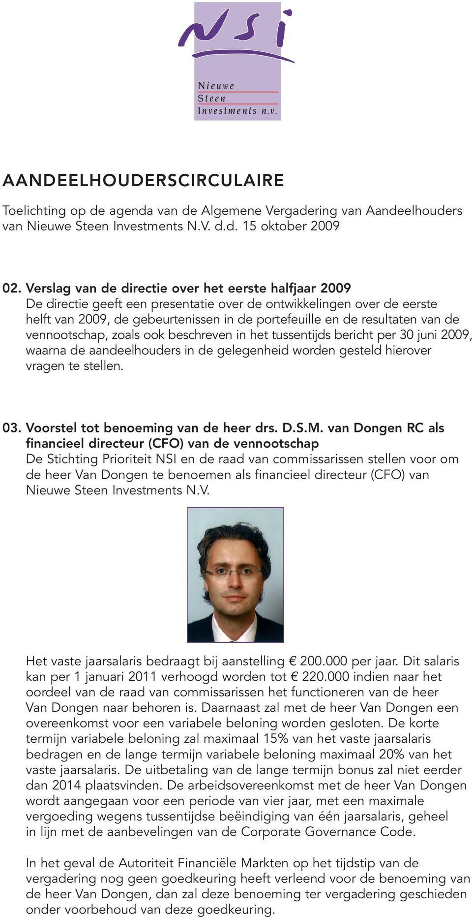 nieuwe steen investments nv