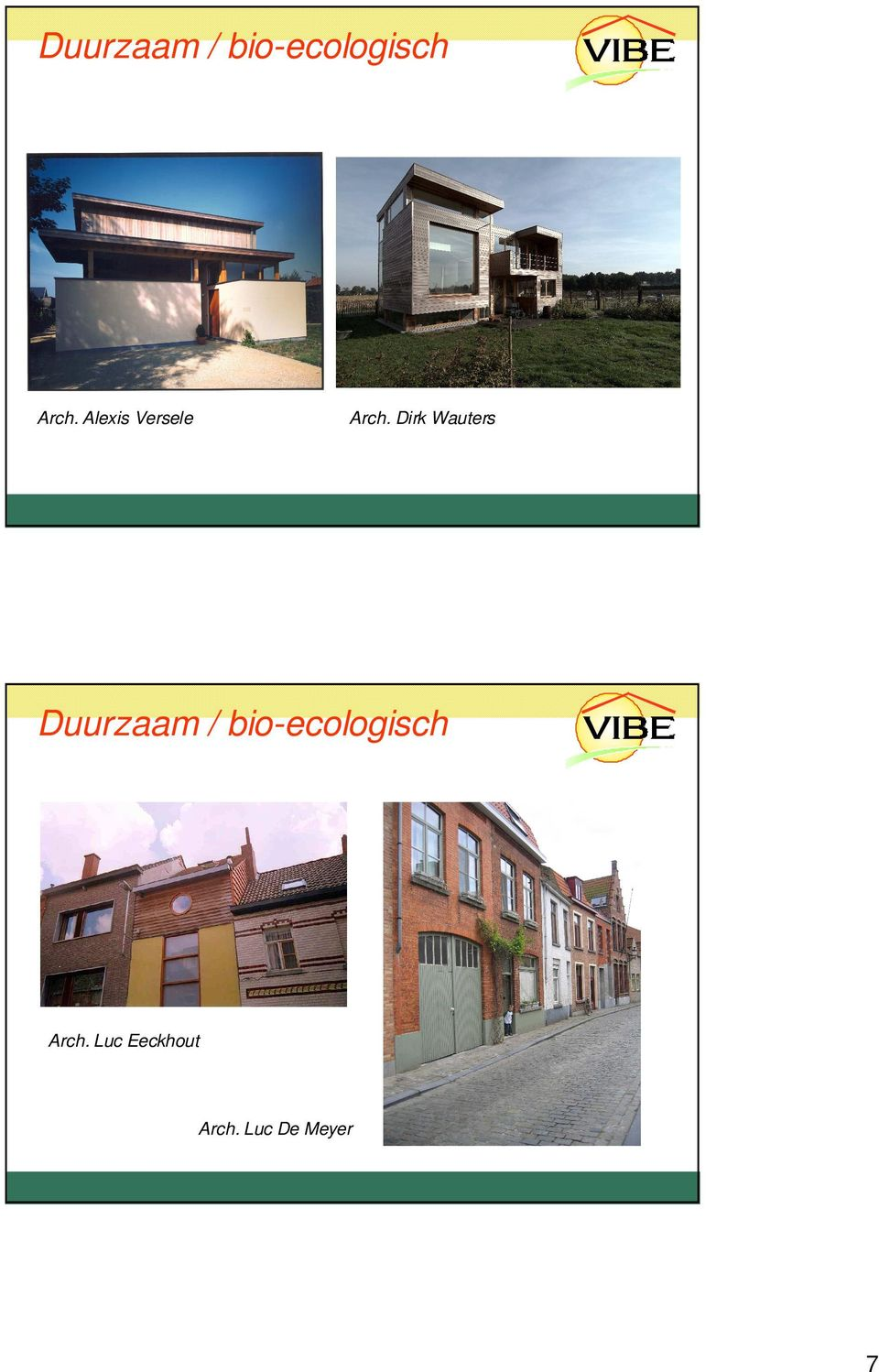 Dirk Wauters  Luc Eeckhout Arch.