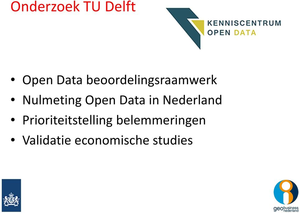 Data in Nederland Prioriteitstelling