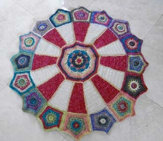 Dutch Version Vijfhoek Cirkel Carousel Blanket Patroon 3 Pdf