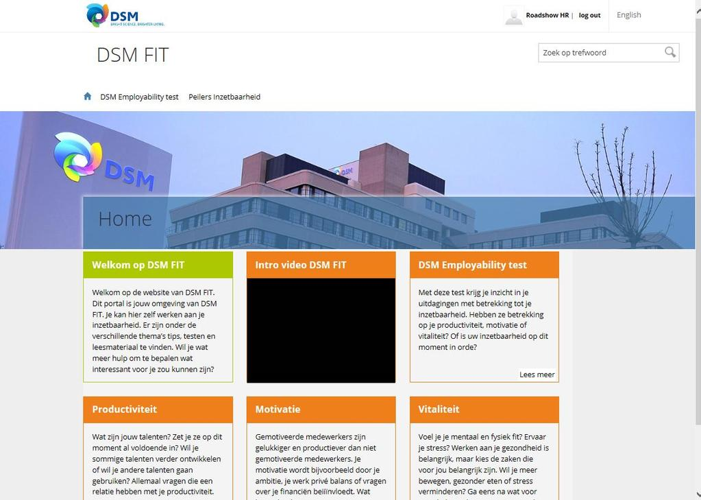 DSM FIT Website Employability test (DIX)